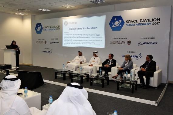 UAE Space Pavilion at the Dubai Airshow 2017
