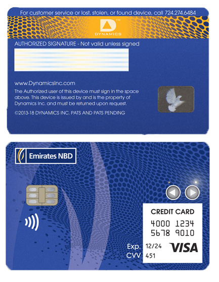 """Emirates NBD and Dynamics' Wallet Card is the """"world's first connected, secure payment card,"""" and has been recognised with four CES Innovation awards."""