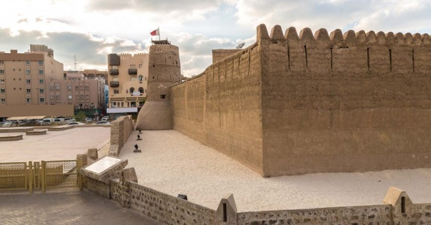 Al Fahidi fort - ancient arabic fortress in Dubai Museum, UAE
