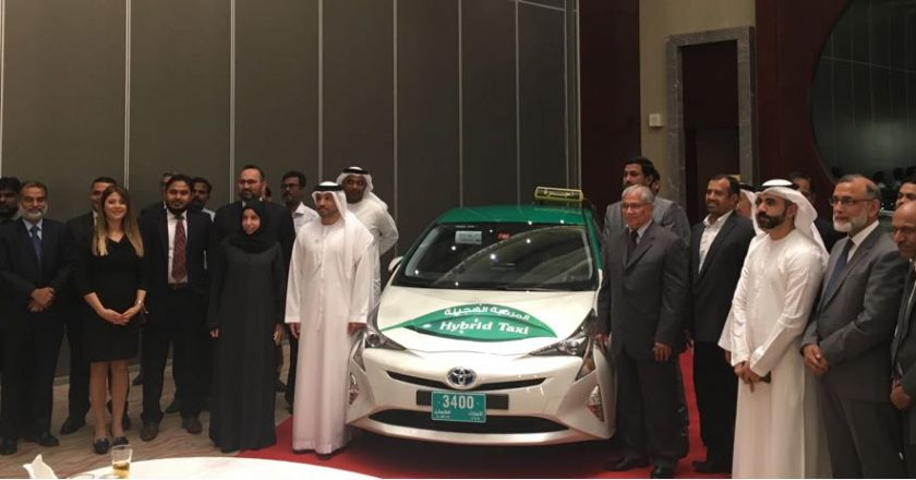 Officials from Arabia Taxi and Al Futtaim at the ceremony
