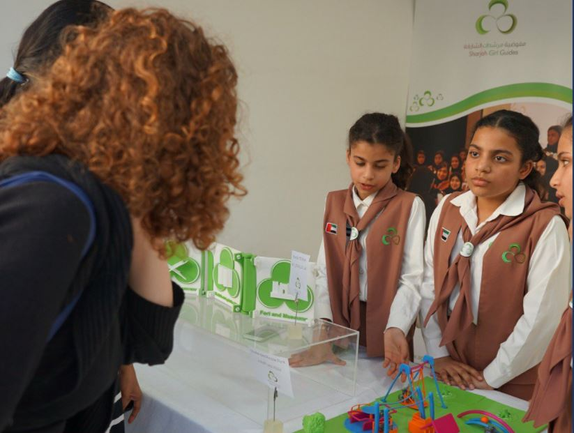 15 guides designed and produced a 3D-printed model of a park for children with disabilities.
