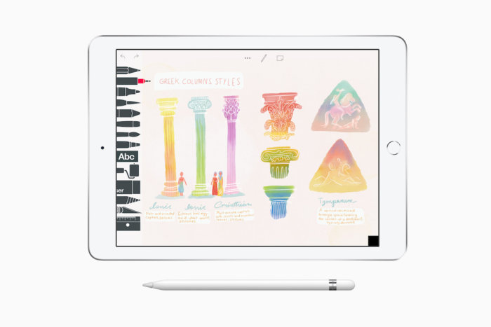 Apple's new 9.7-inch iPad now supports Apple Pencil.