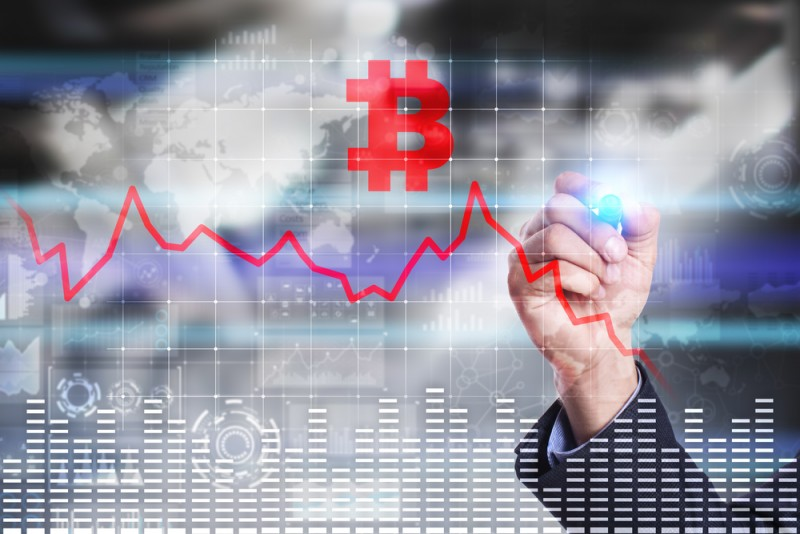 Bitcoin falls, digital currency, cryptocurrency, bitcoin