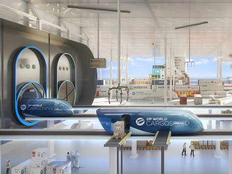 DP World and Virgin Hyperloop One launch cargo system