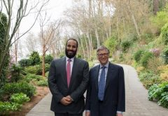 Mohammed Bin Salman meets Microsoft co-founder Bill Gates in Seattle