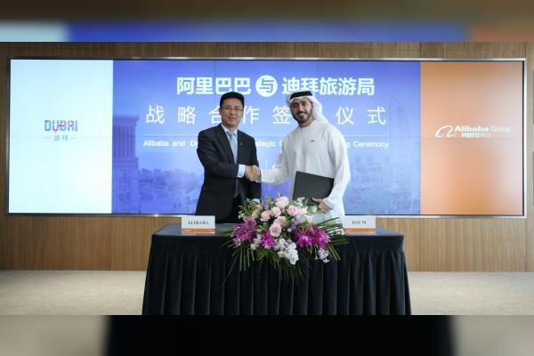 (LtoR) Jerry Hu, Fliggy and Alibaba Group and Issam Kazim, Dubai Tourism