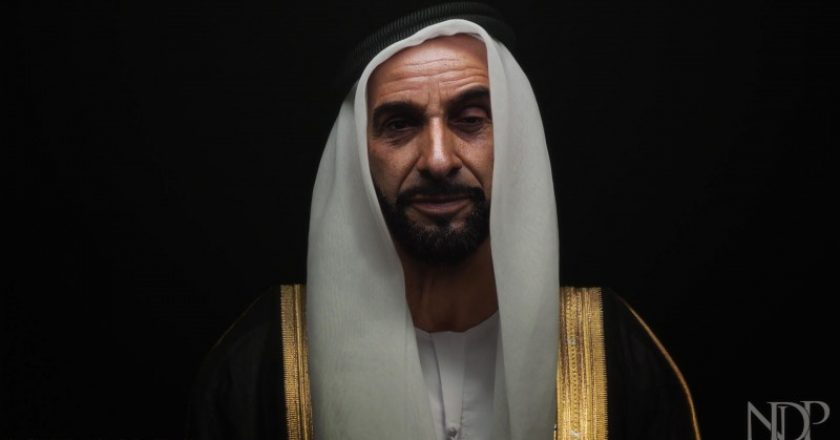 Sheikh Zayed's hologram created by NDP