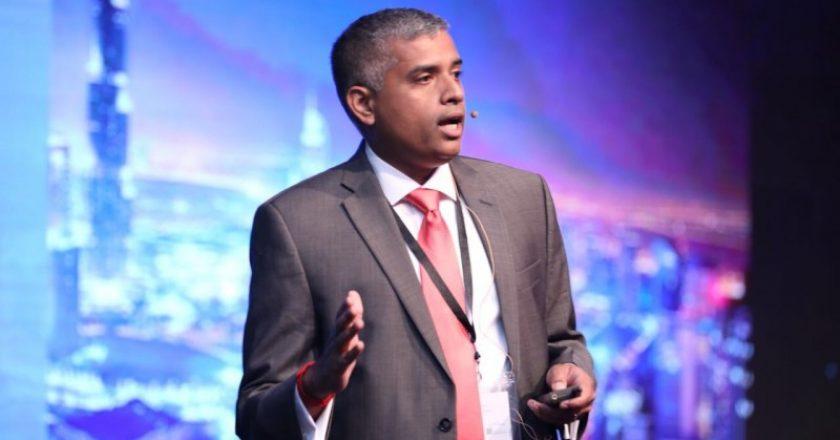 Ramkumar Balakrishnan, Redington Value, speaking at Margin Builder Forum 2018