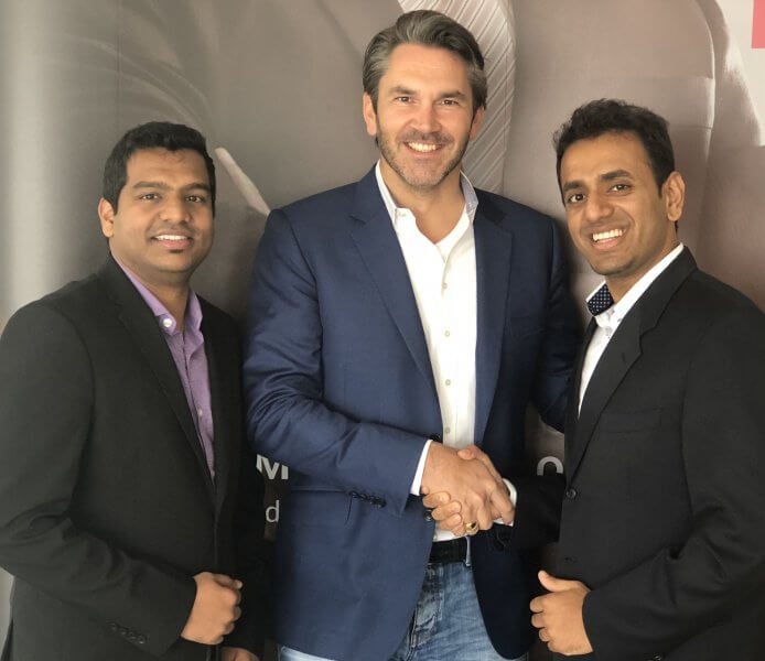(L-R): Jithin Varghese, Sr. Solution Architect and Mario M. Veljovic,, GM, VAD with Mohamed Jaffrey, Territory Sales Manager – GCC, ExaGrid