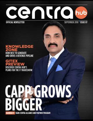 Centra Hub | September 2018 | Cover