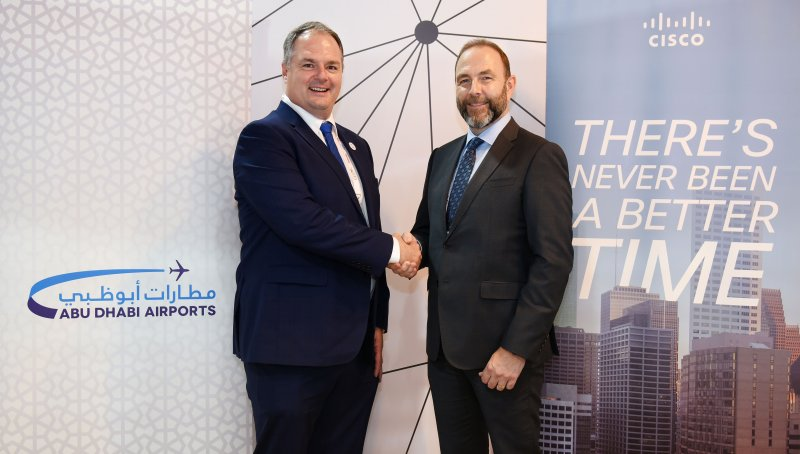 Bryan Thompson, Abu Dhabi Airports and David Meads, Cisco