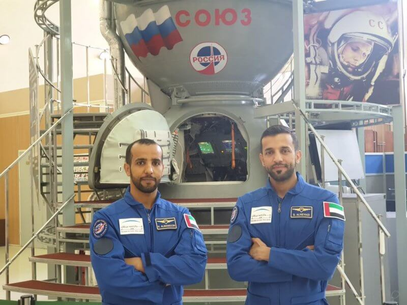 Hazza Al Mansouri and Sultan Al Nayadi UAE's first two astronauts, MBRSC