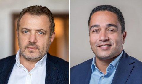 (L-R) Yuri Morozov, Bubbletone Blockchain for Telecom and  Loukas Tzitzis, Nexign