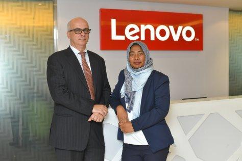 (L-R) Bruno Mancuso and Sithi Sahleena, Lenovo