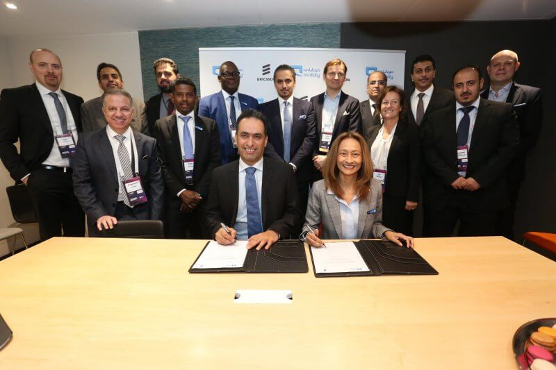 The Mobily and Ericsson team during the MoU signing, network