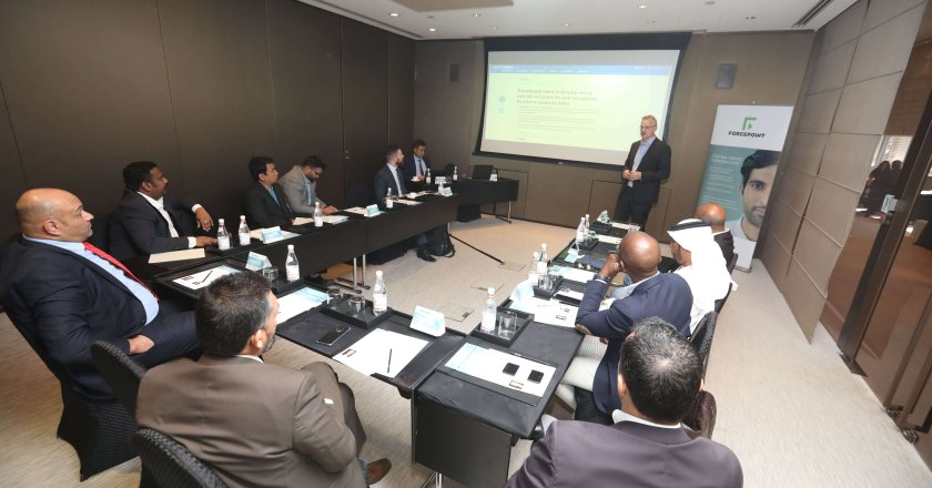 Forcepoint's Duncan Brown speaks at the roundtable discussion
