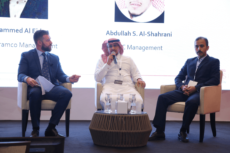 Panelists from Saudi Aramco and Saudi Electricity Company discuss their data management strategies with CNME editor James Dartnell