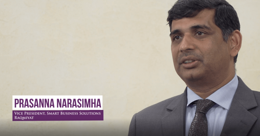 Prasanna Narasimha, Raqmiyat's vice president of smart business solutions