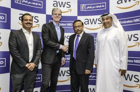 Amazon Web Services (AWS) and Emirates NBD teams