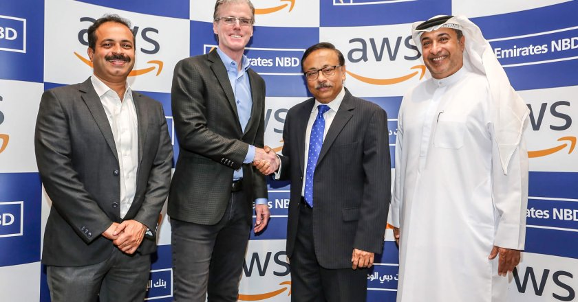 Amazon Web Services (AWS) and Emirates NBD teams