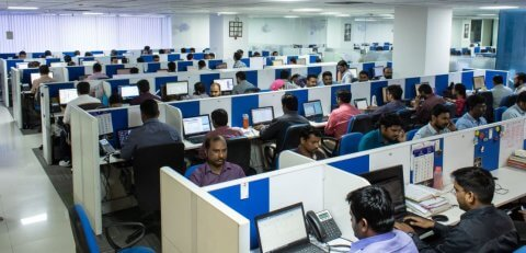 Focus Softnet's support centre in Hyderabad