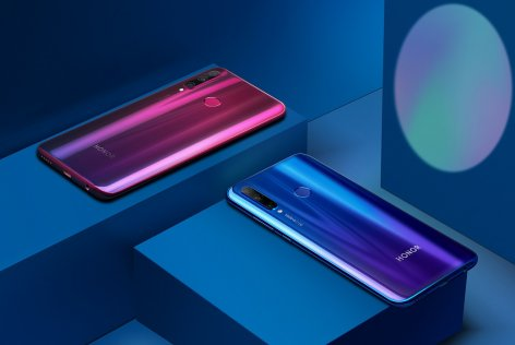 HONOR 10i, Phantom Red and Phantom Blue