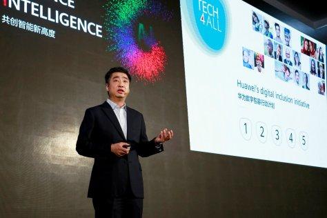Huawei's Deputy Chairman Ken Hu gave a speech at the TECH4ALL Summit