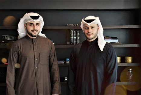 (LtoR) Nouri and Athbi Al Enezi, JustClean, laundry services