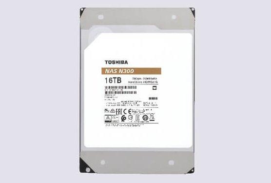 Toshiba adds 16TB capacity to N300 and X300 hard drive series