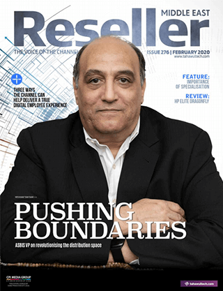 Reseller Middle East February 2020 cover | Pushing boundaries | ASBIS VP on revolutionising the distribution space