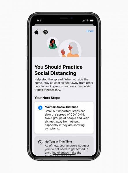 Apple COVID-19 app