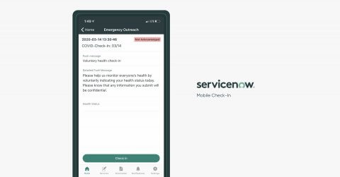 ServiceNow Mobile Check-In app