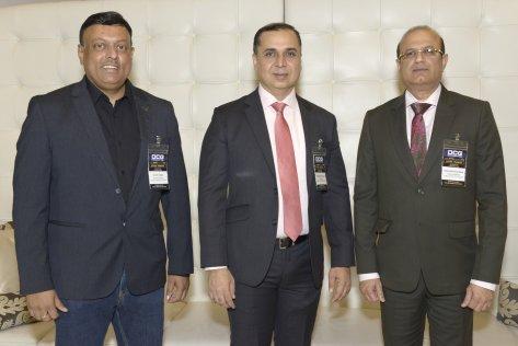 (L2R) Suchit Kumar, Dharmendra Sawlani, Shailendra Rughwani