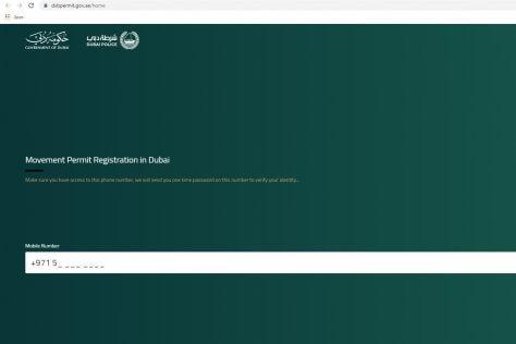 Dubai online permit